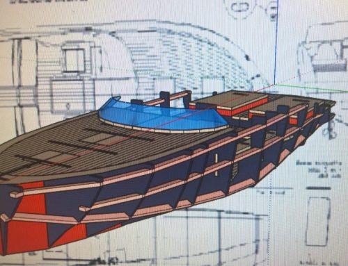 maquette bateau de plaisance italien